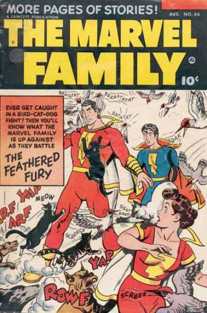 Marvel Family 86 - The Marvel Family - The Feathered Fury - Dogs - Cats - Birds