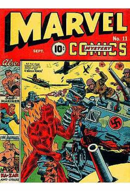 Marvel Mystery Comics 11 - Sub-mariner - Human Torch - Angel - Airplane - Ka-zar