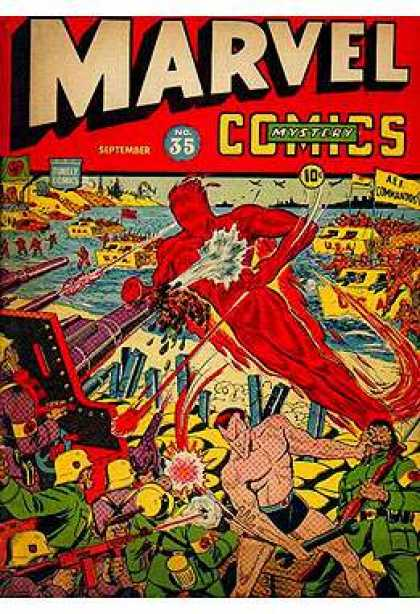 Marvel Mystery Comics 35 - Marvel Man - Dc Cominc - June Bug - Top - Turn Two