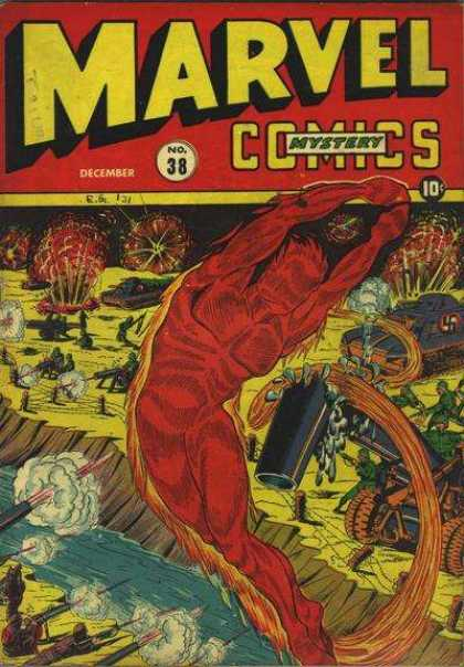 Marvel Mystery Comics 38 - Marvel - Marvel Comics - Mystery - Fight - Fly Over