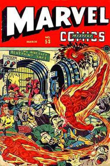 Marvel Mystery Comics 53 - Bank - Robbery - Evil - Fighting - Heros