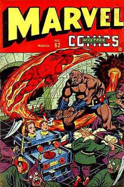 Marvel Mystery Comics 62 - Fire - Red - Zoom - Explode - Save