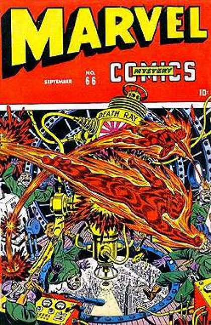 Marvel Mystery Comics 66 - September - Gun - Death Ray - Fire Man - Laboratory