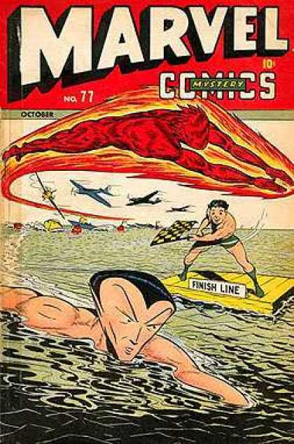 Marvel Mystery Comics 77 - Race - Human Torch - Namor - Planes - Boats