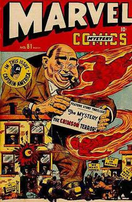 Marvel Mystery Comics 81 - In This Issure - Captain America - Crimson Terror - Human Torch - Fire
