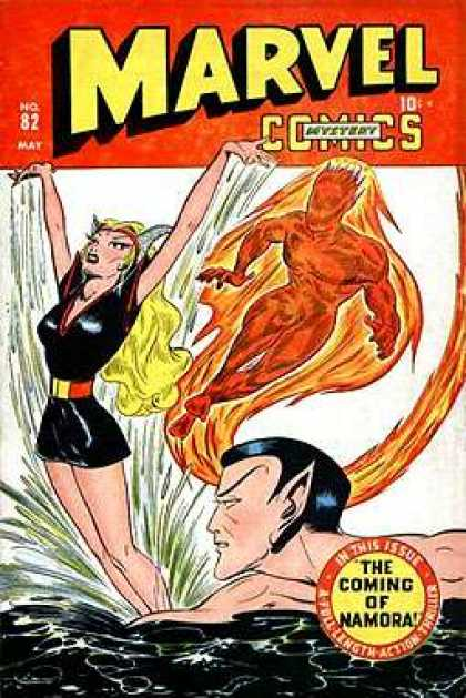 Marvel Mystery Comics 82 - The Coming Of Namora - No 82 Mar - Comics - Woman - In This Issue