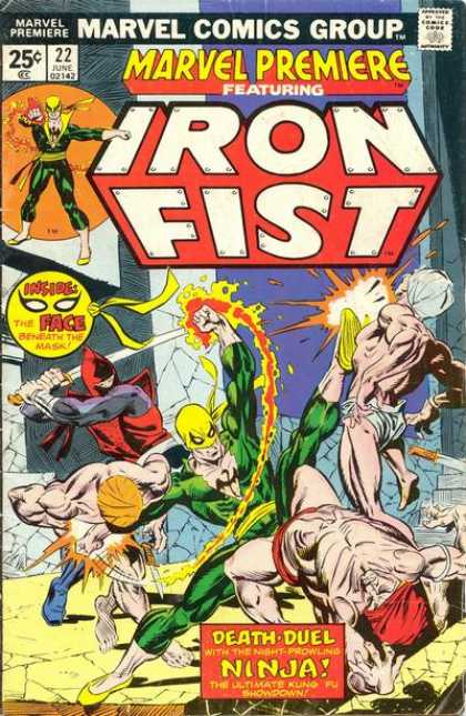 Marvel Premiere 22 - Marvel Comics - Iron Fist - The Face Beneath The Mask - Death Duel - Night Prowling Ninja