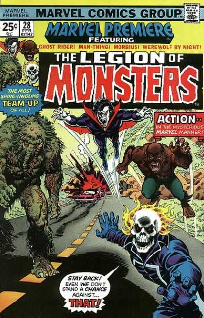 Marvel Premiere 28 - Comics Code - The Legion Of Monsters - Vampire - The Most Team-up Of All - Sculp