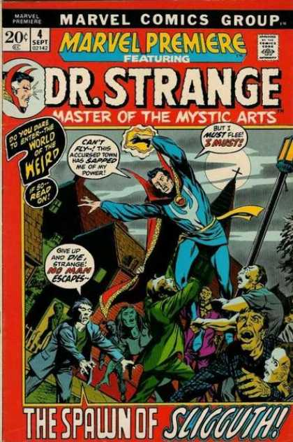 Marvel Premiere 4 - Master Of The Mystic Arts - Spawn Of Sligguth - Zombie - No Man Escapes - World Of The Weird