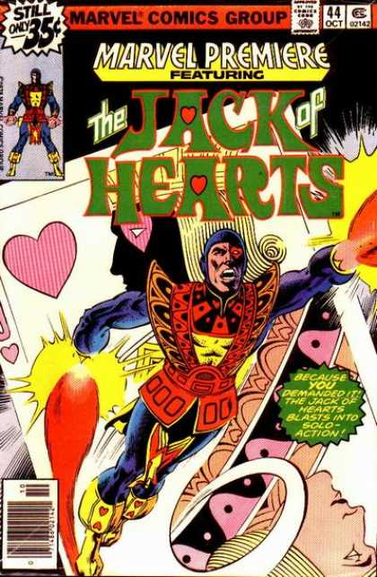 Marvel Premiere 44 - Marvel Comics Group - Approved By The Comics Code - Jack Hearts - Superhero - Heart - Keith Giffen