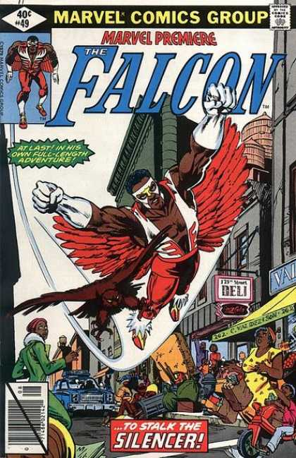 Marvel Premiere 49 - Falcon - Deli - Tricycle - Police Car - To Stalk The Silencer - Frank Miller