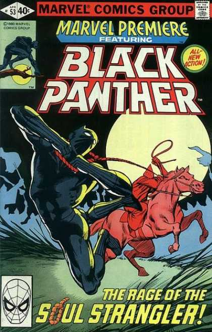 Marvel Premiere 53 - Comics Code - Black Panter - All-new Action - The Rage Of The Soul Stranger - Horse - Frank Miller