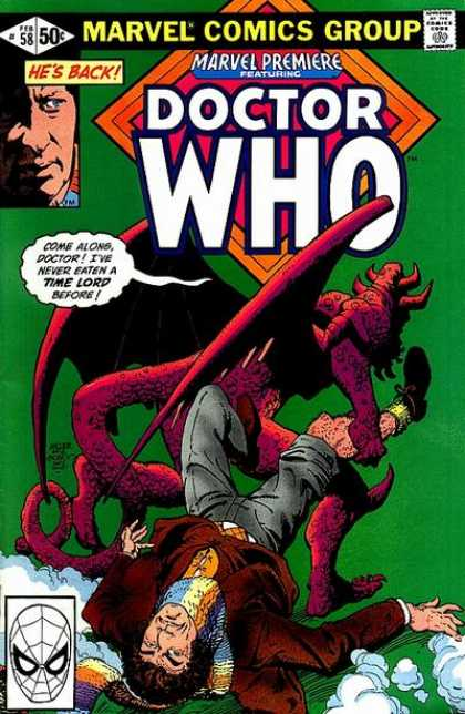Marvel Premiere 58 - Scarf - Monster - Doctor Who - Time Lord - Winged Monster - Frank Miller, Terry Austin