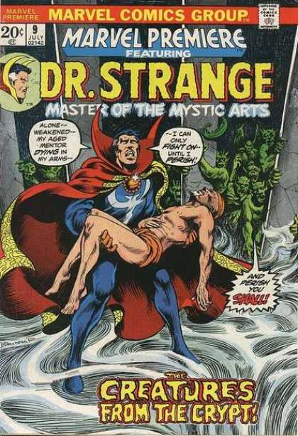 Marvel Premiere 9 - Drstrange Part2 - Master Of The Mystic Arts - Hell Master - Good Men - Creatures From The Crypt