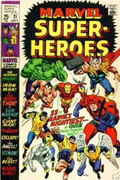 Marvel Super Heroes 60 Superhéroes: Marvel Super-Heroes Covers