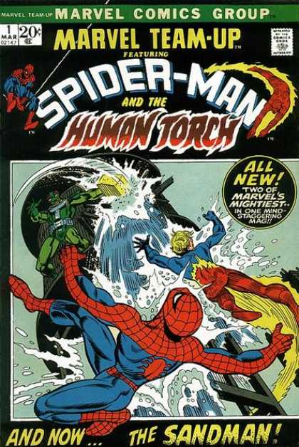Marvel Team-Up 1 - Spider-man - Human Torch - Marvel Comics - Comics Code Authority - 20 Cents - Scott Kolins