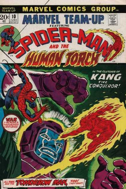 Marvel Team-Up 10 - Spider-man And The Human Torch - Kang The Conqueror - War - Across A Thousand Centuries - Tomorrow Man - Human Torch - Andy Kubert, Scott Kolins
