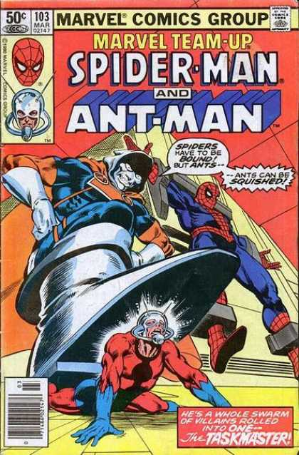 Marvel Team-Up 103 - Spiderman - Ant-man - The Taskmaster - Villains - Heroes - Josef Rubinstein