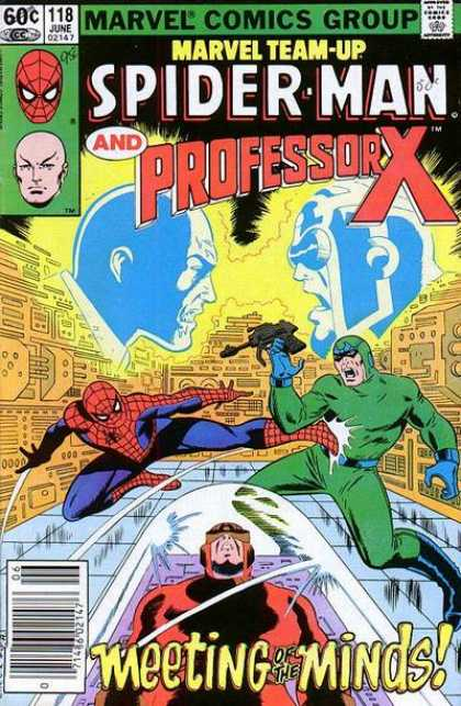 Marvel Team-Up 118 - Meeting - Minds - Fighting - Spider-man - Professor X - John Romita