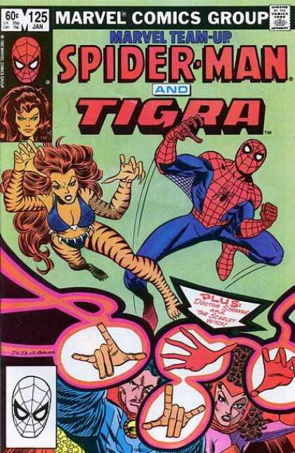 Marvel Team-Up 125 - Tiger Woman - Spiderman - Attack - Hands - Tigra - John Romita