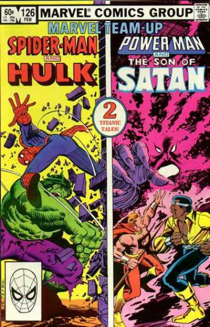 Marvel Team-Up 126 - No 126 - Spiderman - Powerman - Hulk - Satan - John Romita