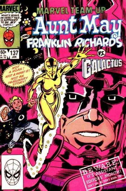 Marvel Team-Up 137 - Aunt May - Franklin Richards - Galactus - Not A Hoax - Not A What If