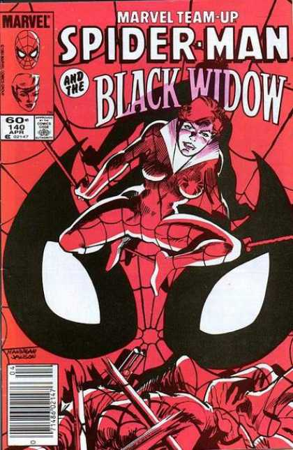 Marvel Team-Up 140 - Spiderman - Black Widow - Spider - Red - Woman - Klaus Janson