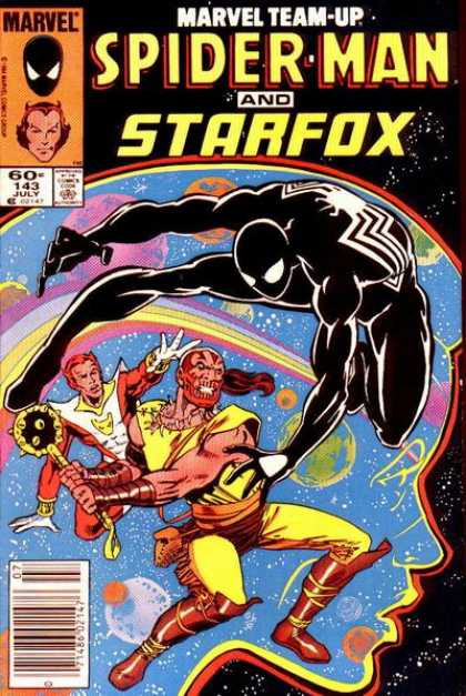 Marvel Team-Up 143 - Black Suit - Outer Space - Rainbow - Galaxy - Battle - Josef Rubinstein