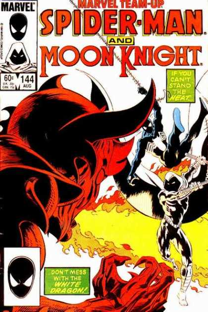 Marvel Team-Up 144 - Moon Knight - Fire - Devil Horns - Marvel - 60 Cents