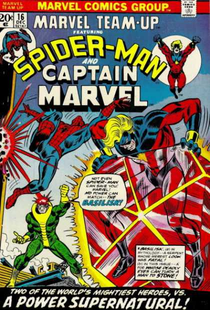 Marvel Team-Up 16 - Spider-man - Captain Marvel - 16 Dec - A Power Supernatural - Basilisk - Phil Hester