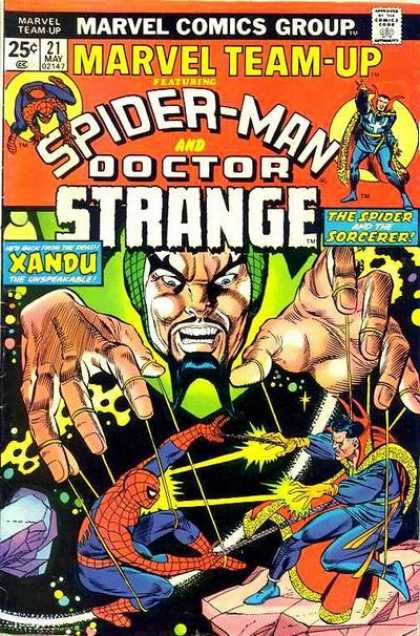 Marvel Team-Up 21 - Spider-man And Doctor Strange - Xandu - The Spider And The Sorcerer - Spider Web - Evil Powers - Phil Hester