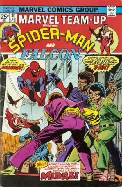 Marvel Team-Up 30 - Spider-man - Falcon - Team Up - Afro - Mod Squad