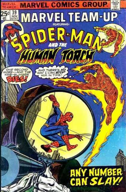 Marvel Team-Up 39 - Spider-man - Human Torch - Any Number Can Slay - Sniper Scope - Target