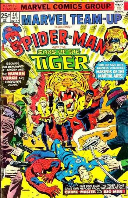 Marvel Team-Up 40 - Marvel - Tiger - Ninja - Battle - Guns - Sal Buscema