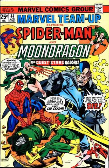 Marvel Team-Up 44 - Comics Code - Spider-man - Mondragon - Battle - Costumes