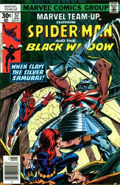 Marvel Team-Up 57 - Marvel - When Slays The Silver Samurai - Sword - Attack - Fighting - Dave Cockrum