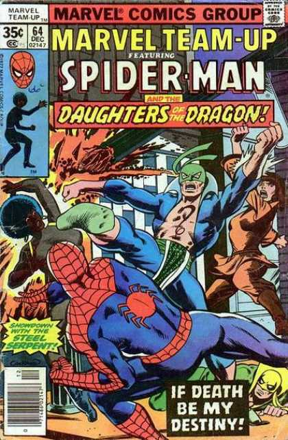 Marvel Team-Up 64 - Spider-man - Daughters Of The Dragon - Marvel Comics Group - Steel Serpent - If Death Be My Destiny - Dave Cockrum
