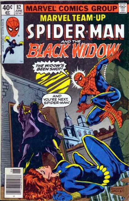 Marvel Team-Up 82 - Marvel - The Windows Been Shot - Jumping - Unconscious - Ready For Attack - Bob McLeod, Richard Buckler