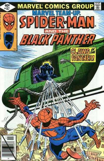 Marvel Team-Up 87 - Spiderman - Black Panther - Helicopter - Spidy Web - Panther Claws