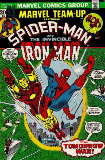 Marvel Team-Up 9 - Marvel Comics Group - The Invincible - Spider-man - Iron Man - The Tommorow War - Scott Kolins