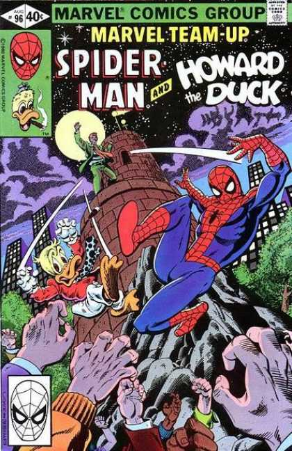 Marvel Team-Up 96 - Marvel Comics Group - Mask - Spiderman - Moon - Howard The Duck - Terry Austin