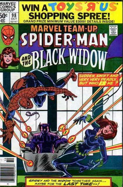 Marvel Team-Up 98 - Marvel Comics Group - 98 Oct - Approved By The Comics Code Authority - Spiderman - Blackwidow