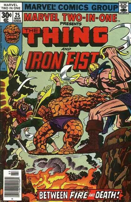 Marvel Two-In-One 25 - Marvel - Presents - The Thing - Iron Fist - Red - Jack Kirby