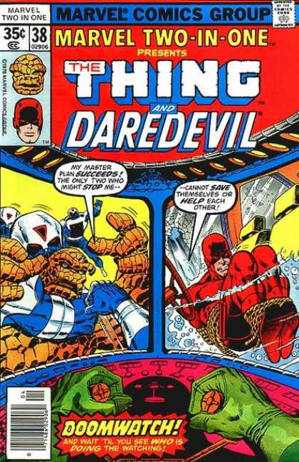 Marvel Two-In-One 38 - Daredevil - Doomwatch - The Thing - Rope - Ship