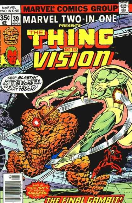 Marvel Two-In-One 39 - The Thing - The Vision - Daredevil - The Final Gambit - Fight