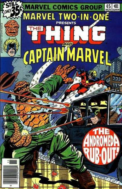 Marvel Two-In-One 45 - Thing - Captain Marvel - Andromeda - Nov 45 - Heroes