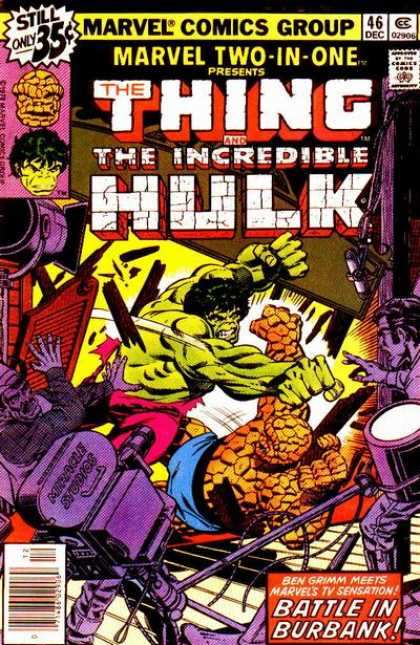 Marvel Two-In-One 46 - The Thing - The Incredible Hulk - Battle In Burbank - Fight - Camera