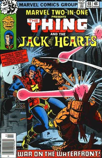 Marvel Two-In-One 48 - The Thing - Jack Of Hearts - War On The Waterfront - Marvel Comics - Marvel Two-in-one - Charles Stone