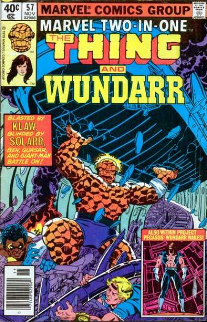 Marvel Two-In-One 57 - The Thing And Wundarr - Klaw - Gaint - Man - Ben - Quasar - George Perez