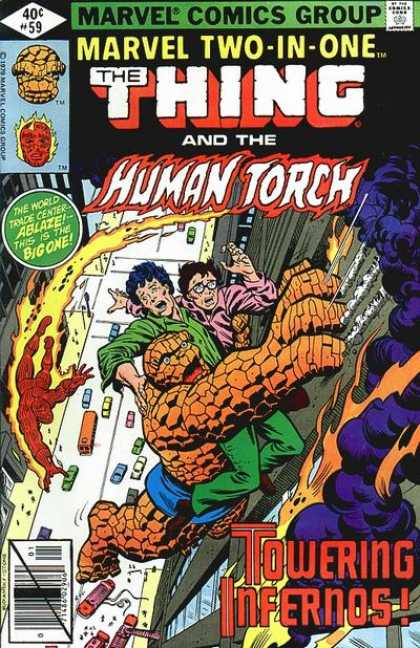 Marvel Two-In-One 59 - Thing - Human Torch - Marvel - Towering Infernos - World Trade Center
